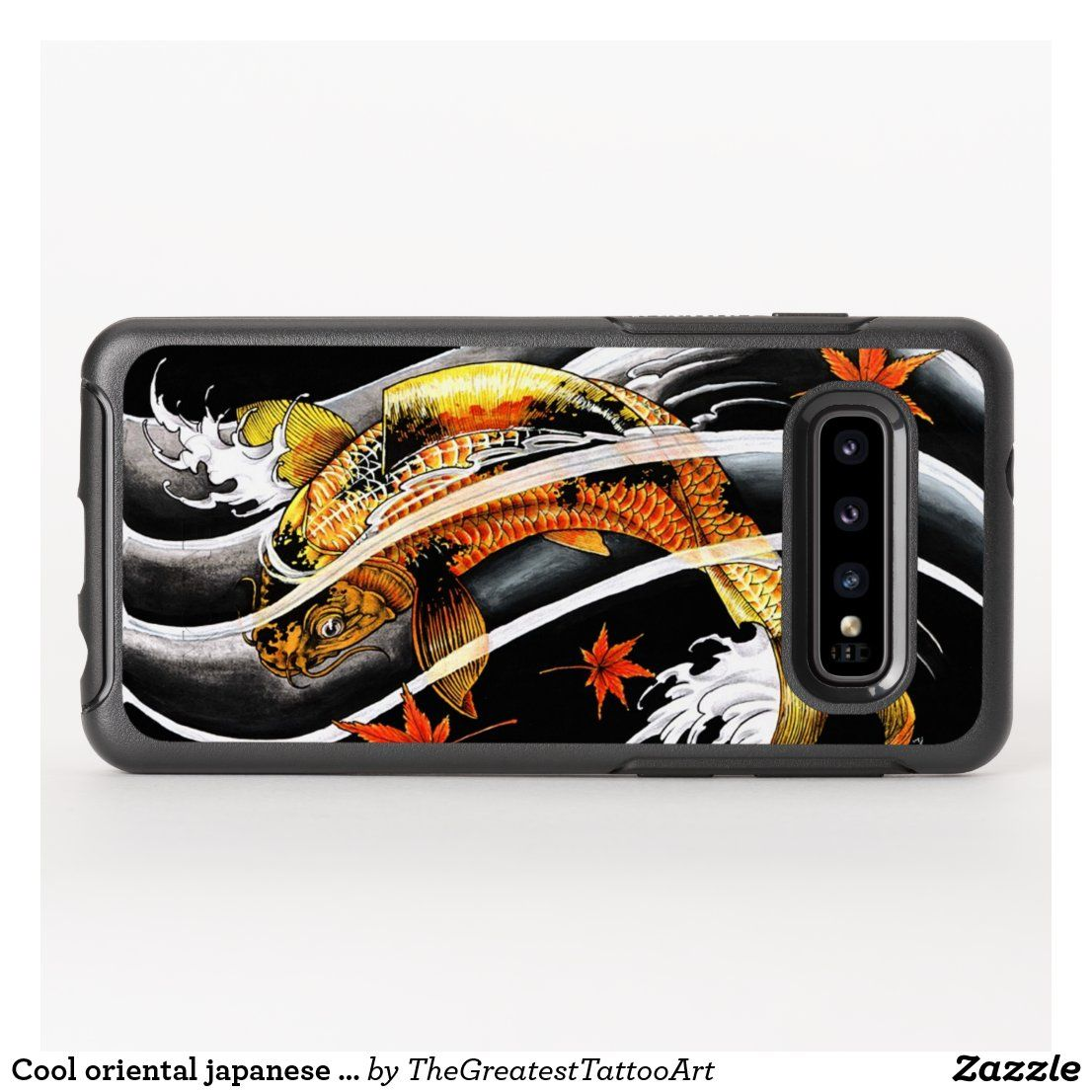 Cool oriental japanese gold lucky koi fish tattoo otterbox