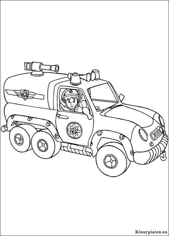 Brandweerman Sam 2 Cartoon Coloring Pages Coloring Books Coloring Pages