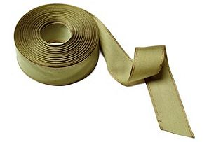 """1.5"""" Solid Stitched Edge Ribbon, Olive"""