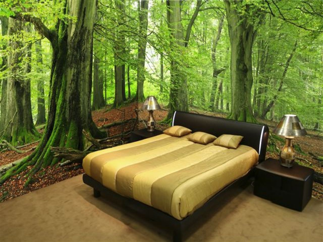 Ideas For Wall Art In Bedroom Forest Wall Mural Wall Murals