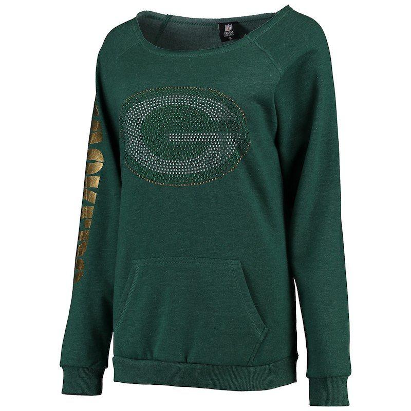 Women s Cuce Green Green Bay Packers Sideliner Sweatshirt en 2019 ... baa51231469