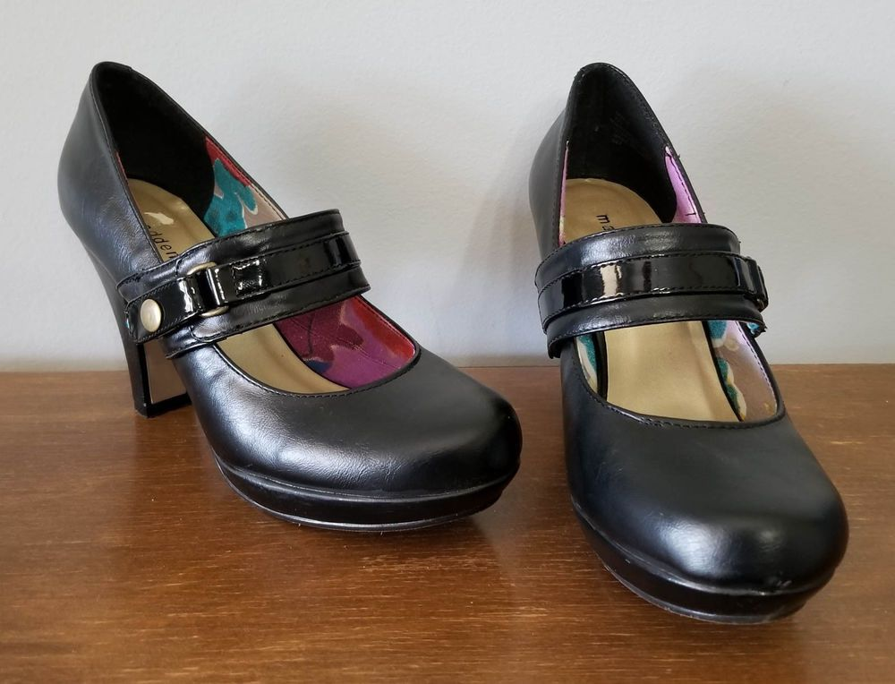 4a37dce67534 Madden Girl Black Mary Jane High Heel Shoes Womens Juniors Size 8.5   MaddenGirl  MaryJanes