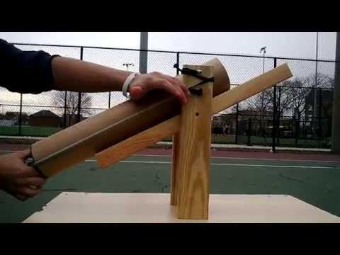 Tennis Ball Launcher Personal Project Youtube With Images Ball Launcher Tennis Ball Launcher Tennis Ball