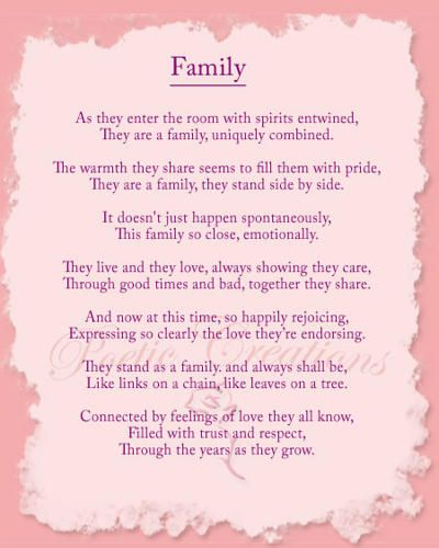 Family Poem Family Poems Inspirational Poems Funeral Poems