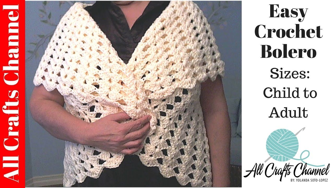Easy crochet Bolero All Sizes child to Adult - Yolanda Soto Lopez ...