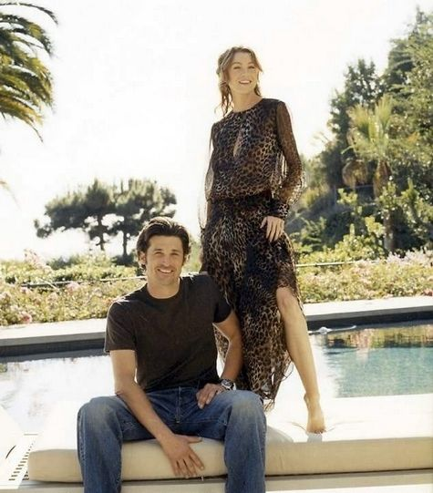Tv Guide Patrick Dempsey And Ellen Pompeo Cover Shoot Tv Guide