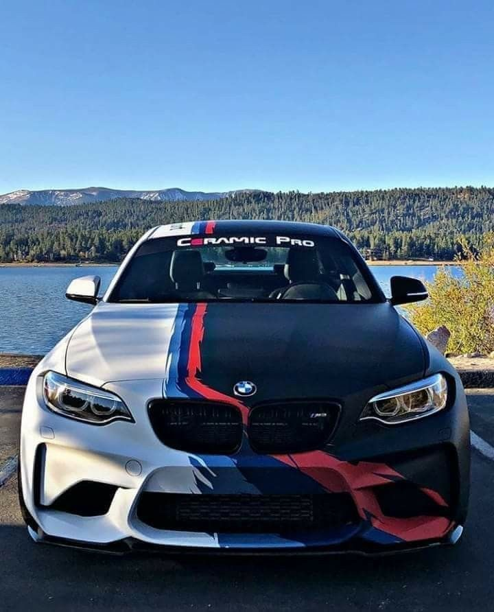 BMW F87 M2 white black ///M stripe Ceramic Pro - #black #ceramic #stripe #white -   #black #ceramic #stripe #white