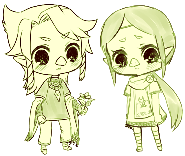 Wind Waker -- Komali And Medli By *onisuu On DeviantART