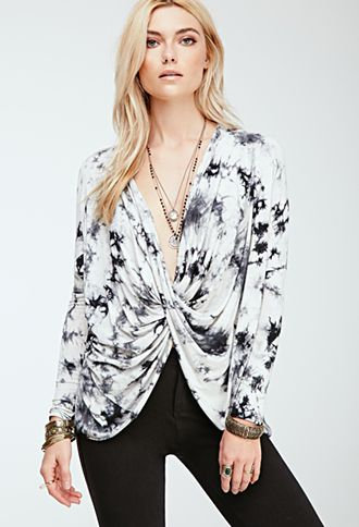 Tie-Dyed Twist-Front Top | FOREVER21 | #foreverfestival
