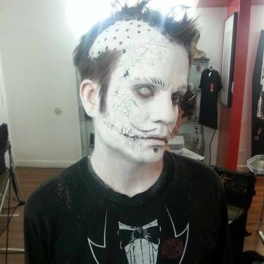 Living dead cracked doll makeup by me