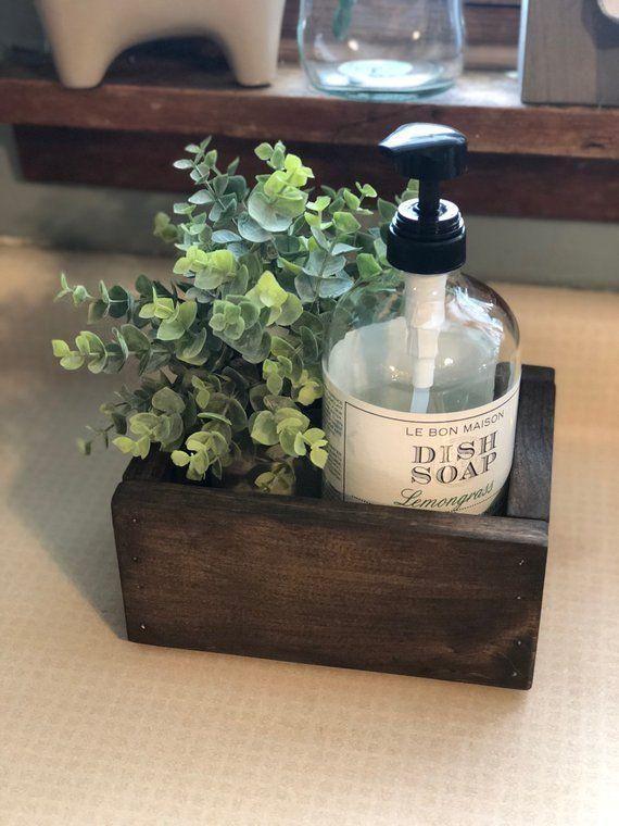 Farmhouse Kitchen Catch All Box, Kitchen Soap Holder Box, Bathroom Catch All, Toilet Paper Ho... - Elaine