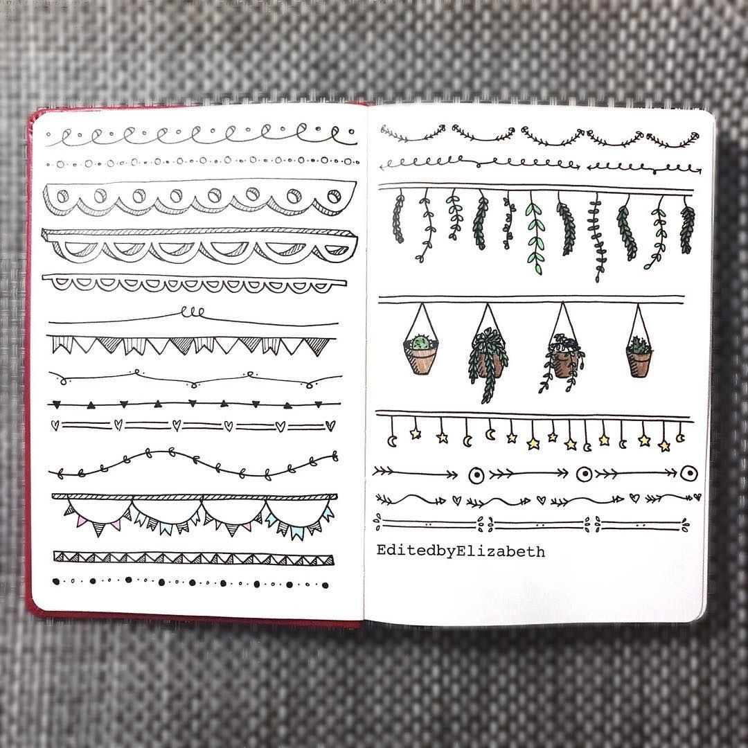 bullet journal header ideas to look like a pro projeto