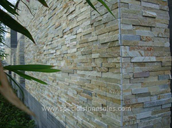 Great Light Beige Slate Wall Building Stone Veneer For Exterior Wall Cladding
