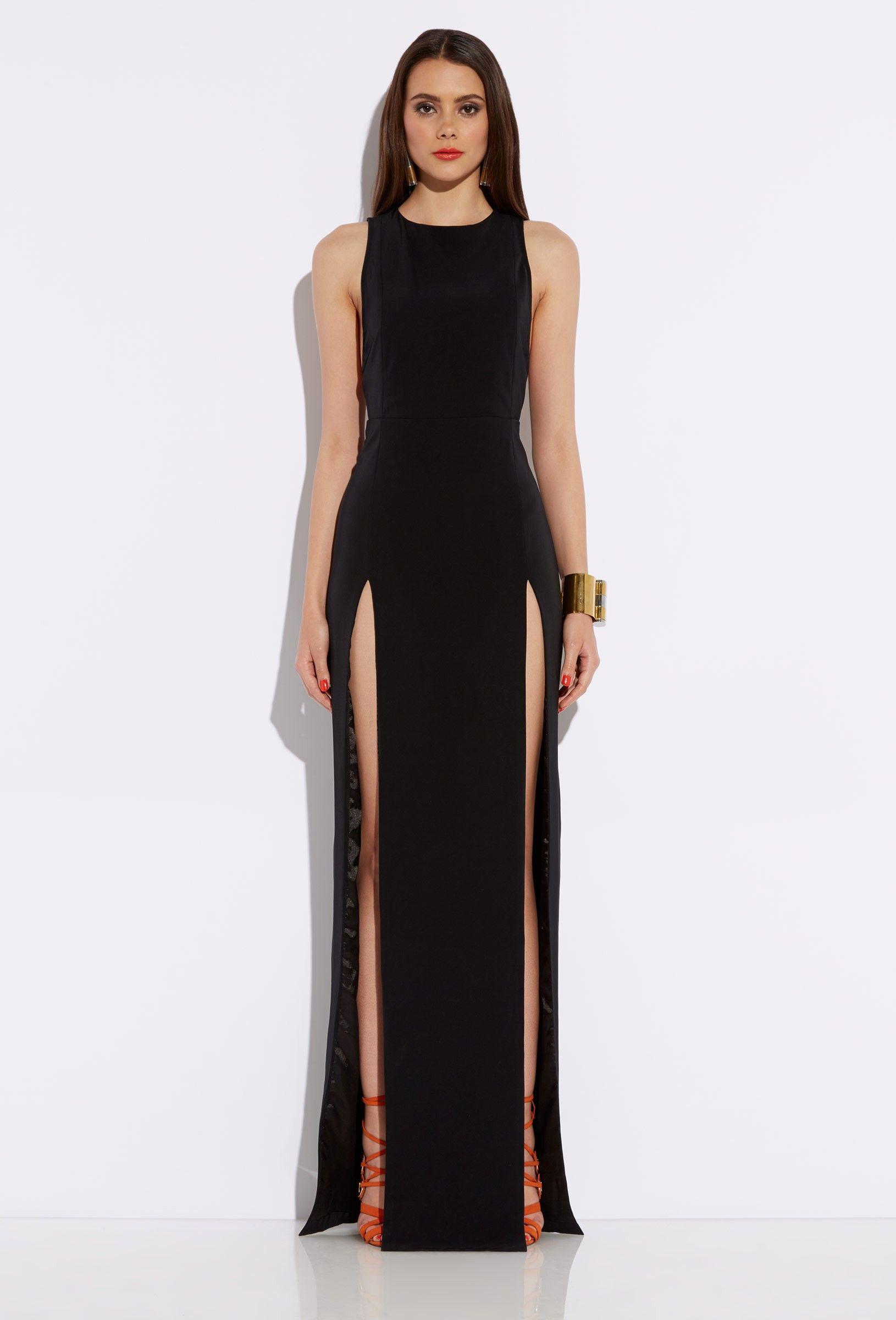 Maxi Dress With Slit Gommap Blog Maxi Dresses Pinterest