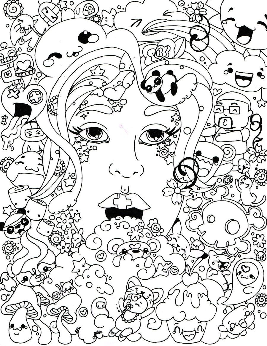 Detailed Trippy Coloring Pages For Adults