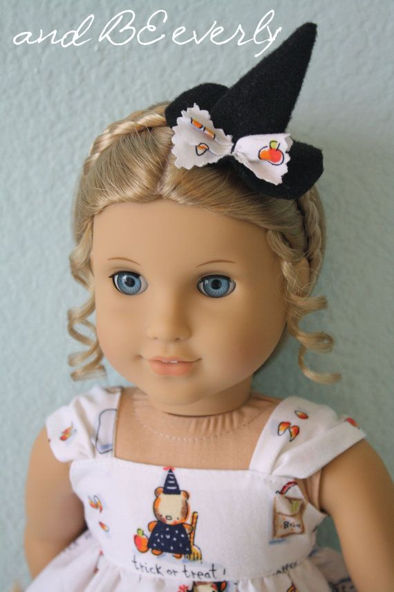 Cute Witch Halloween dress for your 18 inch doll by andBEeverly