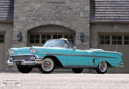 Legendary Motorcar Company     1958 Chevrolet Impala Convertible