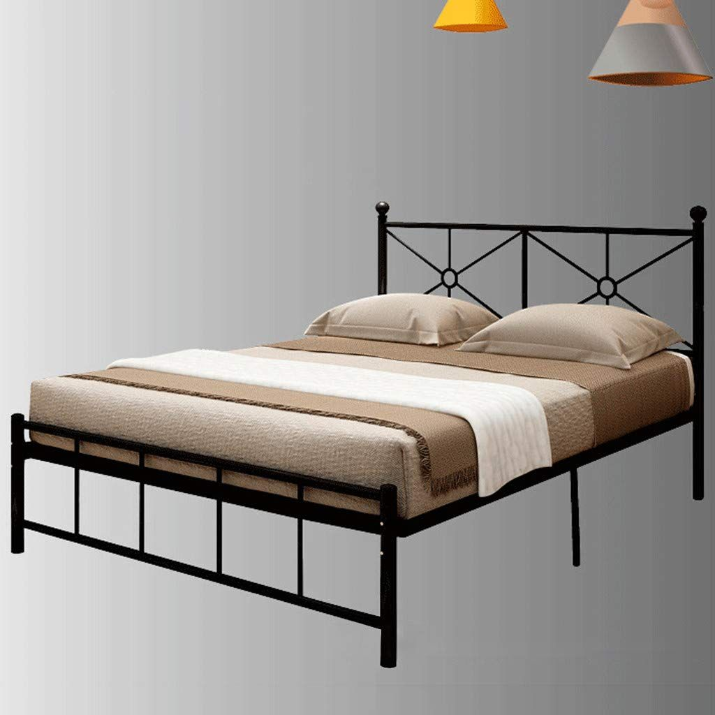 80x60x16 5 Double Bed Metal Bed Frame Full Size Heavy Duty Bed Frame With Headboard Metal Platform M In 2020 Bed Frame And Headboard Full Bed Frame Full Size Bed Frame