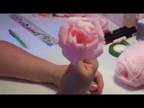 tuto facile des roses en papier crepon youtube bouquets de fleurs papier cr pon rose en. Black Bedroom Furniture Sets. Home Design Ideas