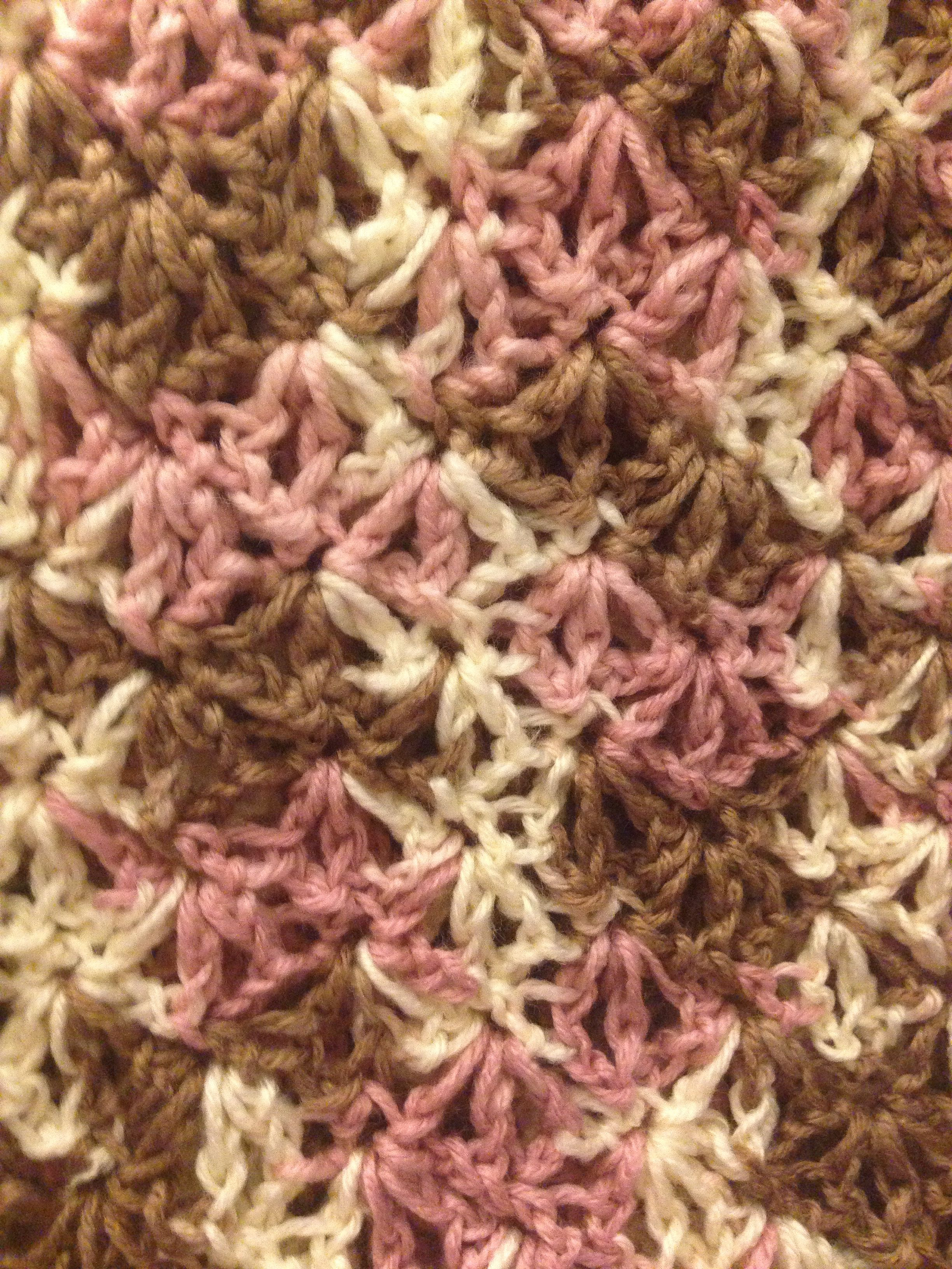 Crochet Stitches For Variegated Yarn : Shell stitch with variegated yarn Knitting and Crocheting Pintere ...