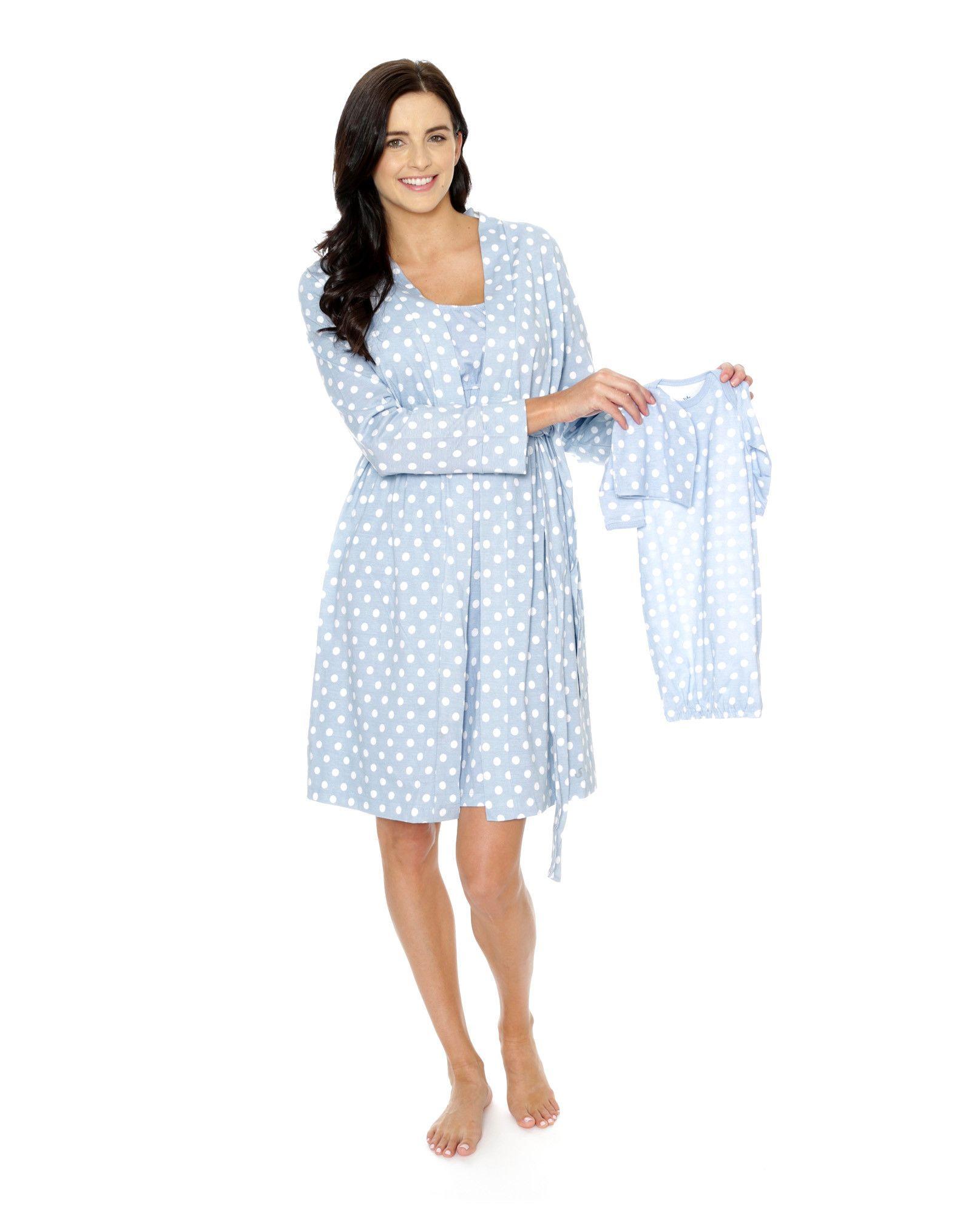 Nicole Robe + Nightgown + Baby Set  1e1e6971a