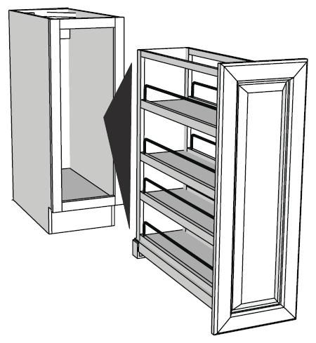 Pull Out Base Cabinet Organizers Full Insert RTA Kitchen Cabinets