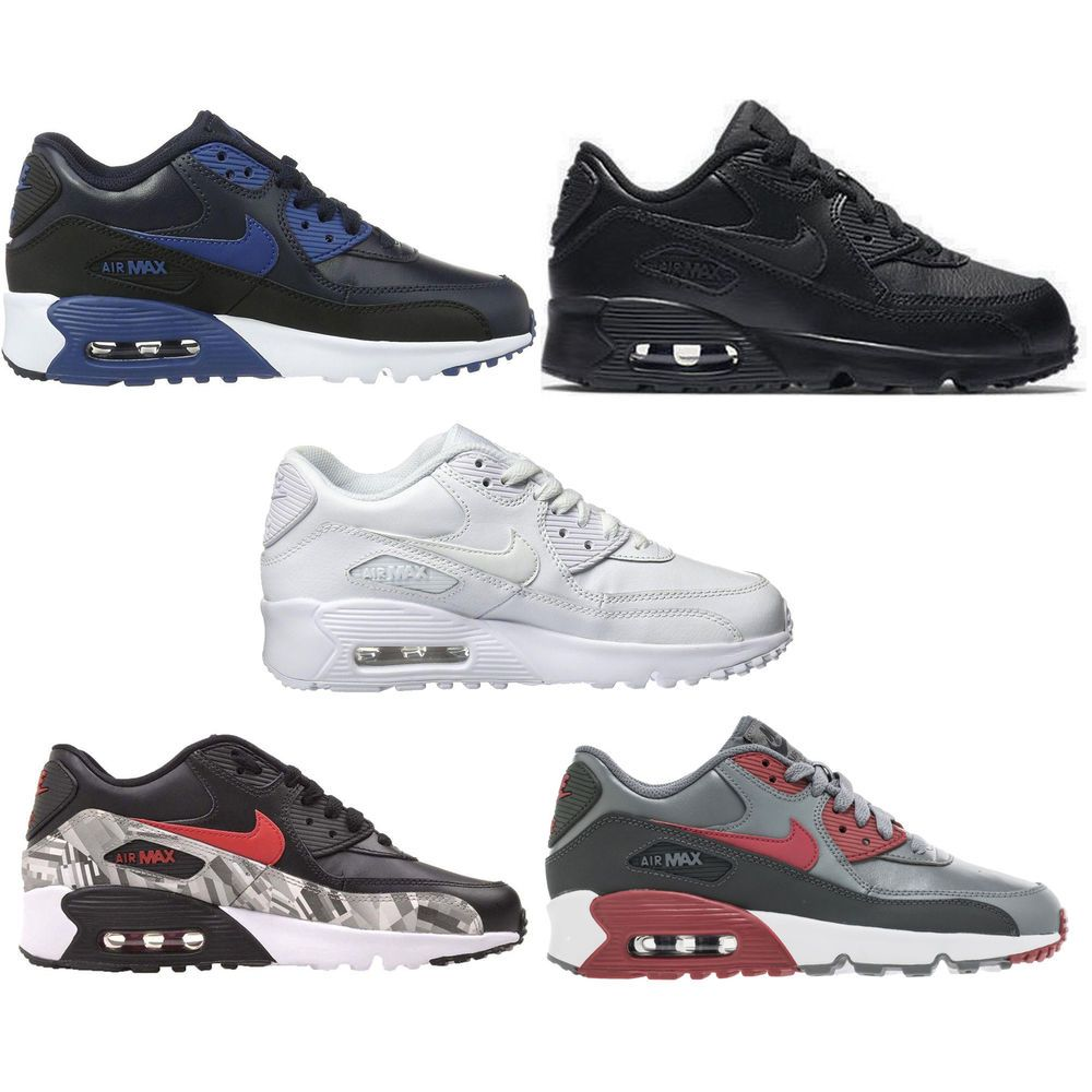 quality design 674b2 d7cc5 The Nike Air Max 90 Leather Big Kids  Shoe features a leather upper and a  visible Max Air unit in the heel for durability and outstanding cushioning.