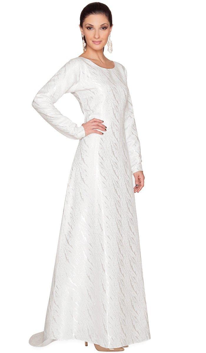 Elegant Long Sleeve Ball Gown Evening Party Long Dress - Intl ...