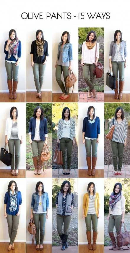 64 Best Ideas For How To Wear Green Pants Capsule Wardrobe #autumnwardrobe