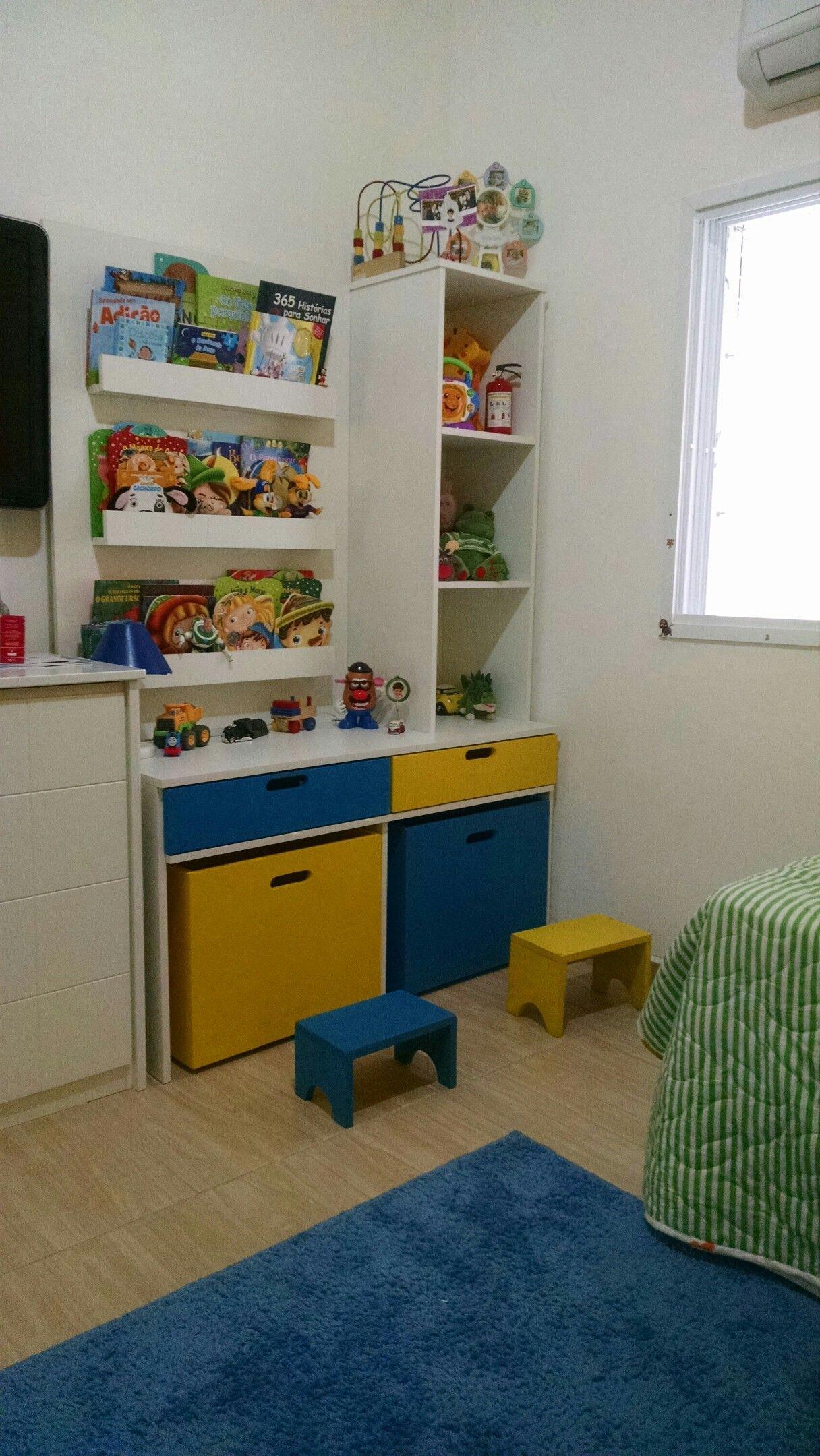 Escrivaninha Para Quarto Infantil Com Porta Livros Nichos  ~ Como Organizar O Quarto Com Nichos