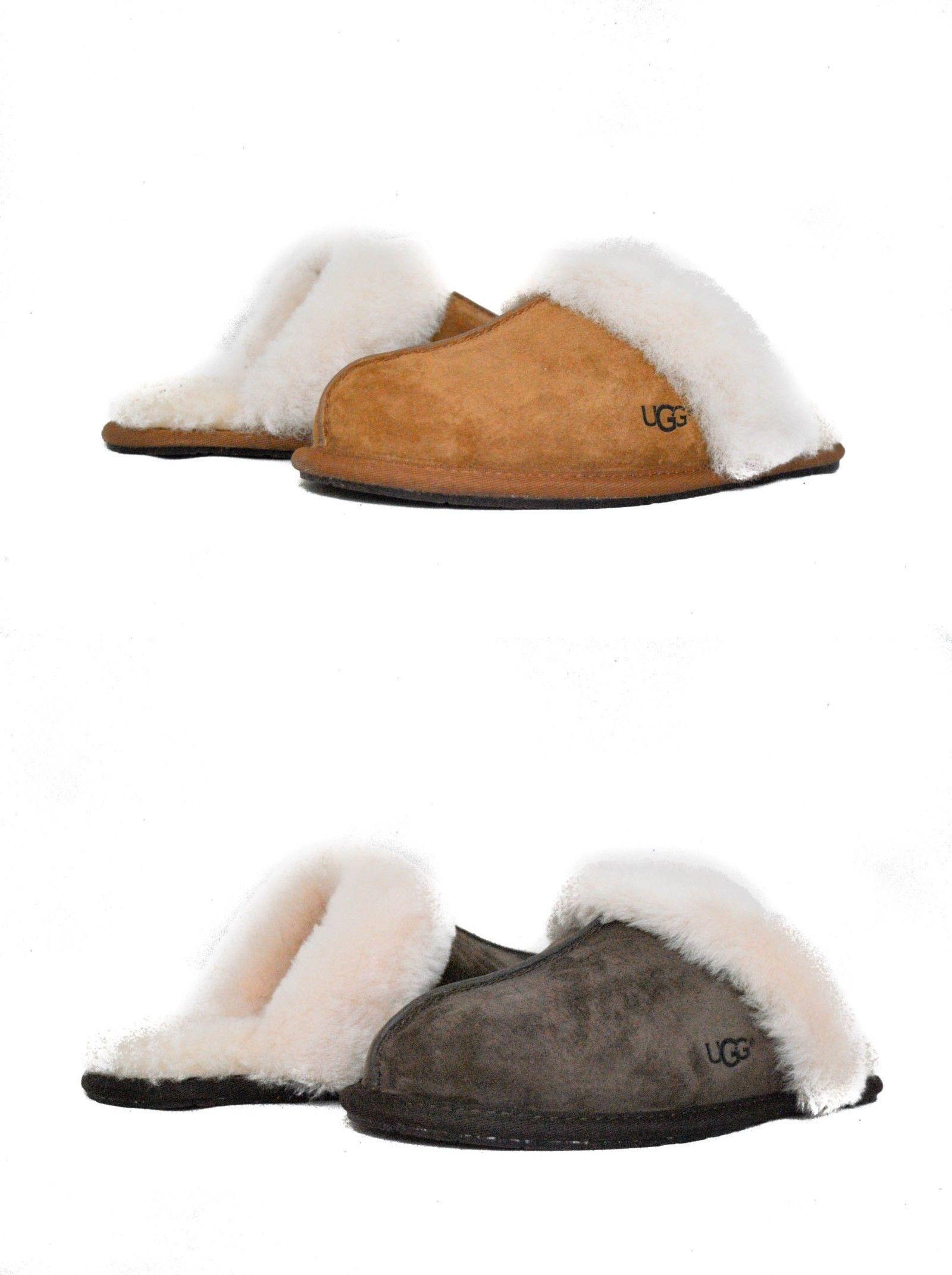 605e9e1e56b3 Slippers 11632  Ugg Australia Women S Scuffette Ii Slippers Chestnut Espresso  Suede New Sz 5-12 -  BUY IT NOW ONLY   84.99 on  eBay  slippers  australia  ...