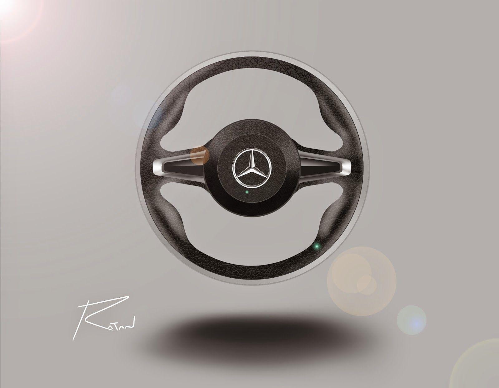 Ratandesignz mercedes benz steering wheel design sketch for Mercedes benz steering wheel