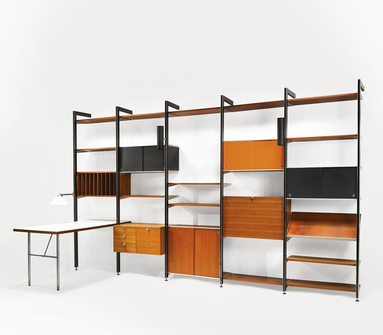 George Nelson Associates - Five Bay comprehensive #mcm #shelving #furniture #georgenelson