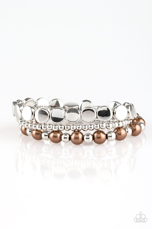 Girly Girl Glamour Brown Stretch Bracelet Set Only 5 No