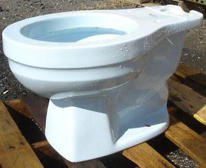 Vintage Powder Blue 1984 American Standard Plebe Toilet Complete