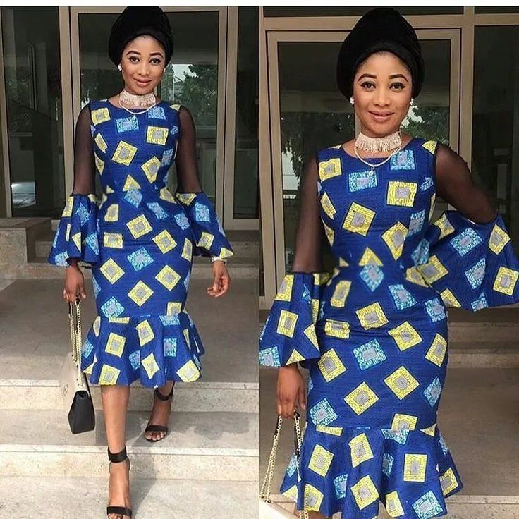 01e459eae7d6 Fashion in Nigerian traditional styles - Ankara and black lace ...