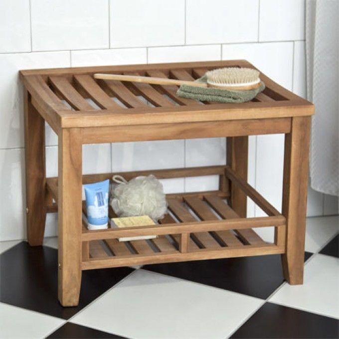 Teak Rectangular Shower Stool | shower seat | Pinterest | Shower ...