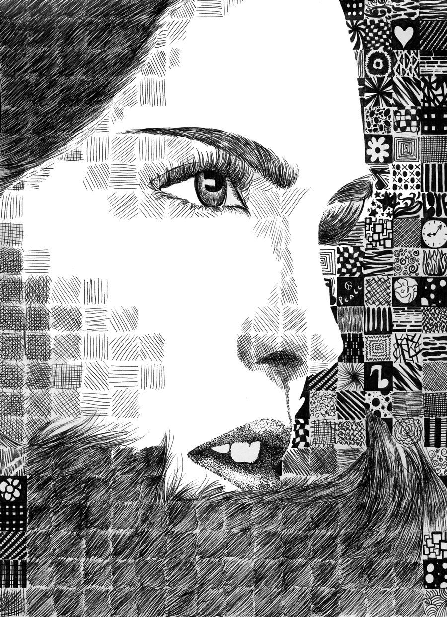 Pair Up A Study Of Chuck Close With Talking About Using Lines To Create Value