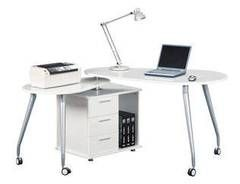Phenomenal Techni Mobili Rotating Computer Desk With Storage White Interior Design Ideas Clesiryabchikinfo