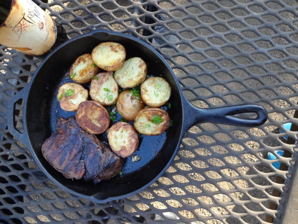 how to cook potatoes camping