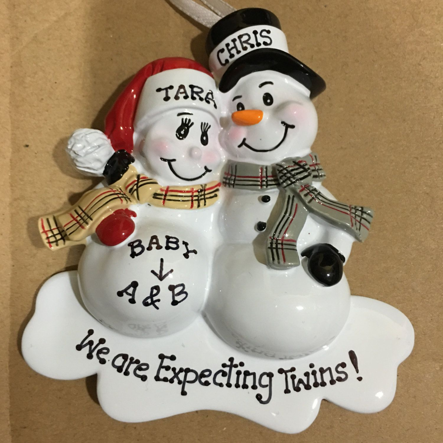 Christmas Ornament We Re Expecting Twins