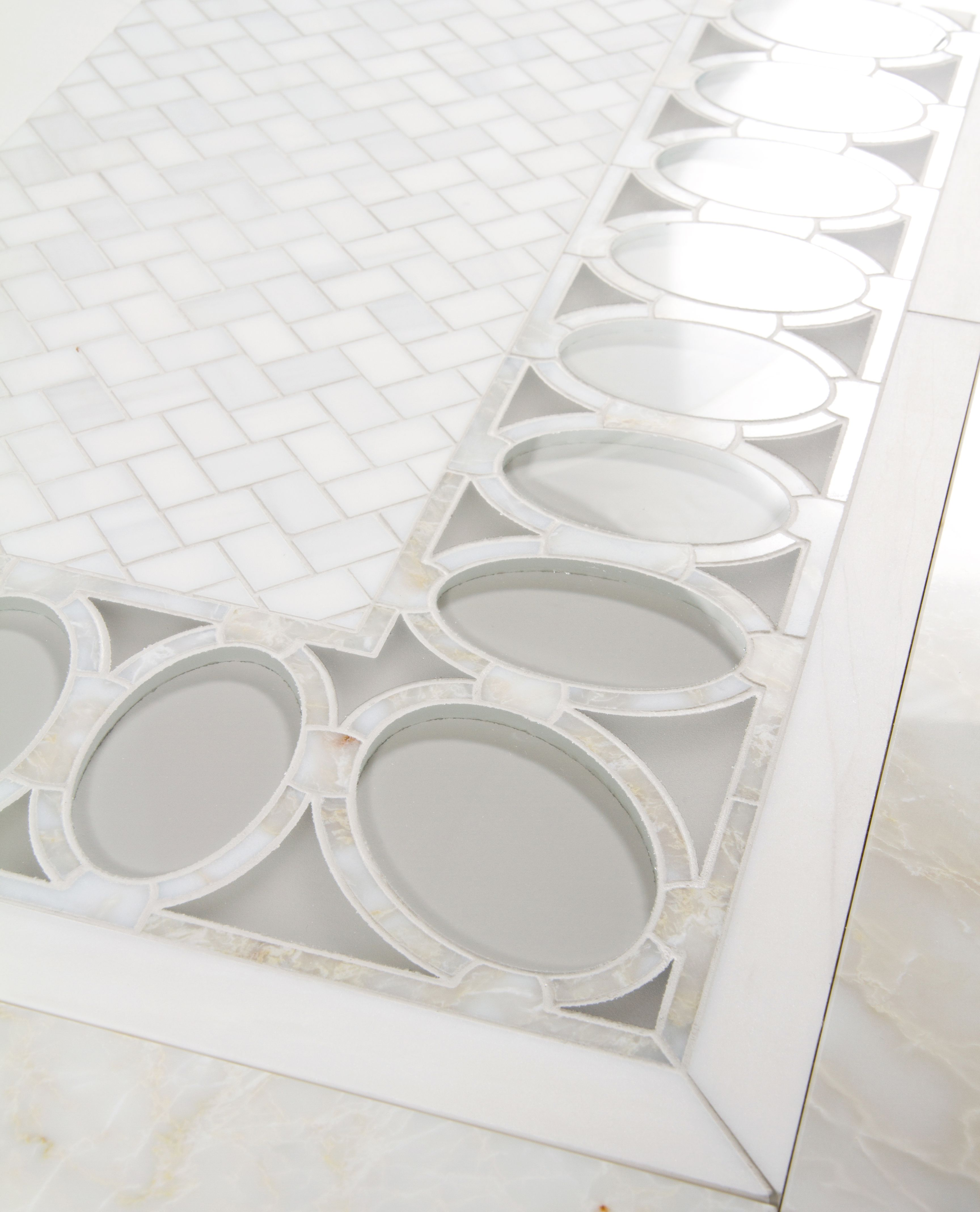 Opal Border Water Jet By Mosaique Surface Waterjet Designs
