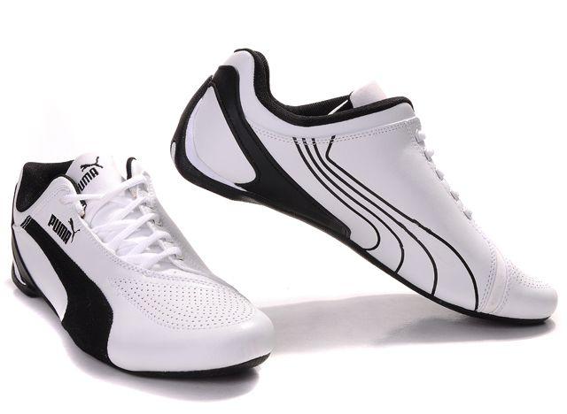 Puma Drift Cat Shoes White Black Women Shoes-$101