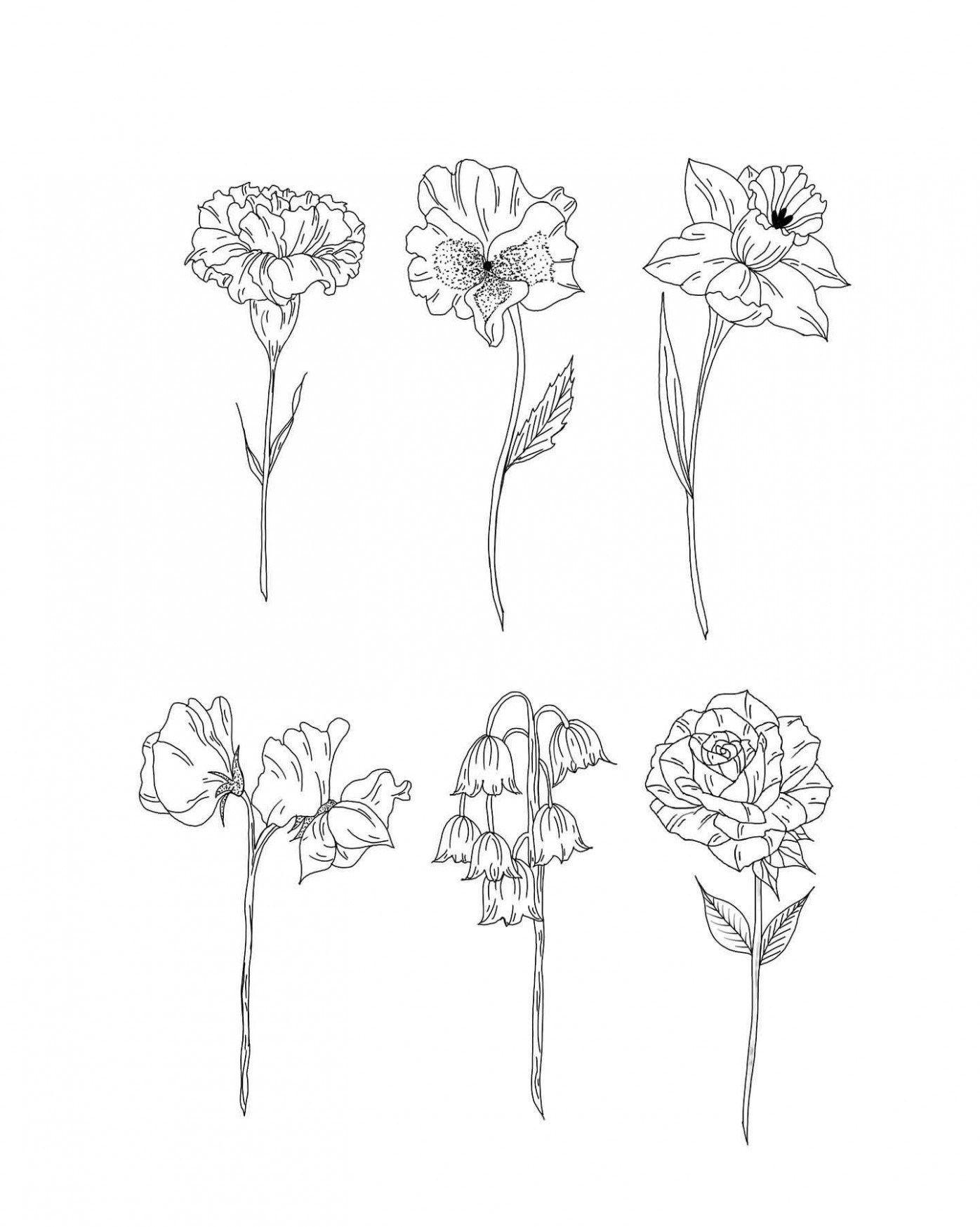 21+ Best Birth flower tattoos january image HD