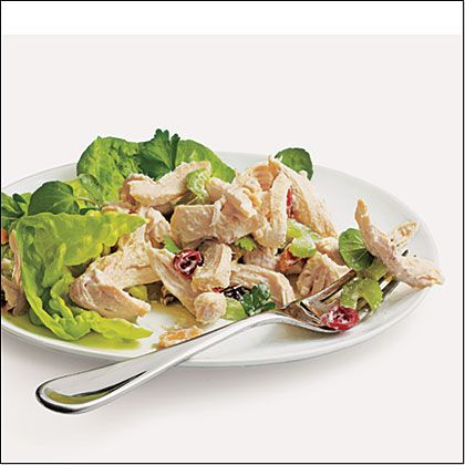 Creamy Chicken Salad Recipe. Creamy, crunchy, and fresh, our version of this classic has less than half the calories and salt.