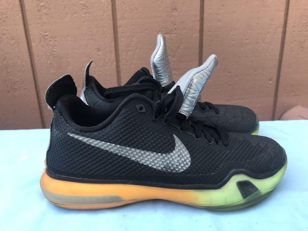 designer fashion 1934e a78a9 EUC Nike Kobe 10 X YOUTH US 4.5Y All Star Game Black Volt Orange 743872-097  A6 (eBay Link)