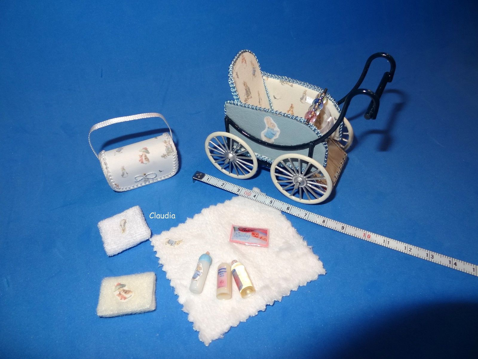 Baby Zubehör Handmade Details About Ooak Hand Made Mini Crib Infant Baby Artist