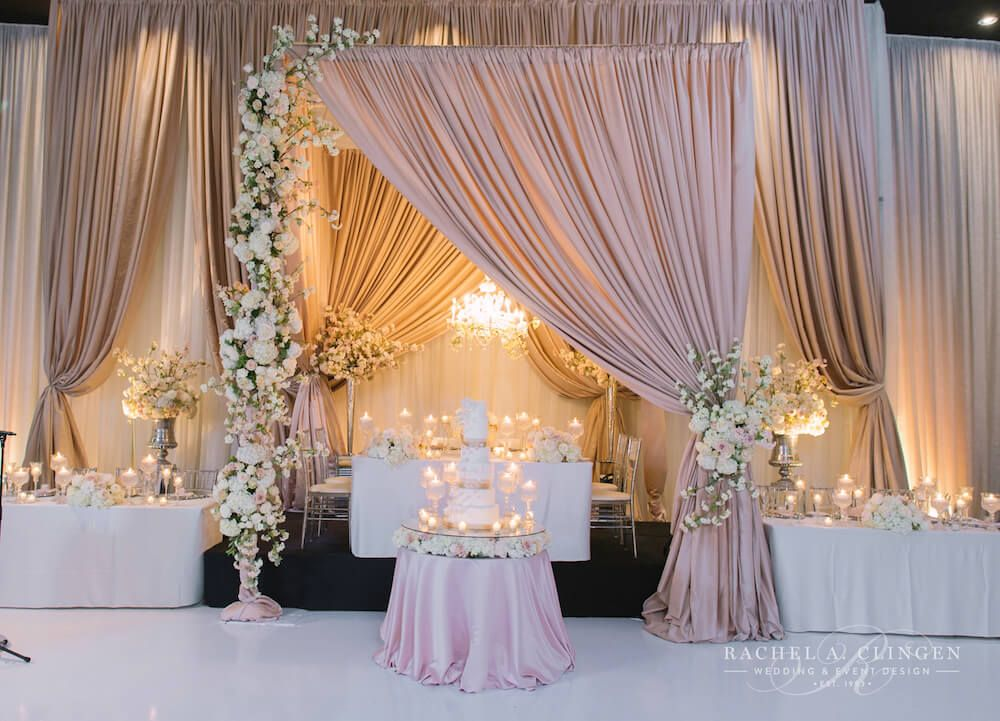wedding backdrop decoration ideas wedding canopy draping clingen grand luxe 8407