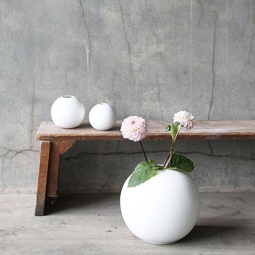 Ball Vase White. Cooee Design.