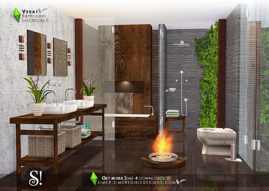 Check out our guide on how to add a bathroom now! Verat Bathroom by SIMcredible! (Sims 4) • Shower • Sink ...